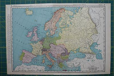 Europe Vintage Original 1895 Rand McNally World Atlas Map Lot