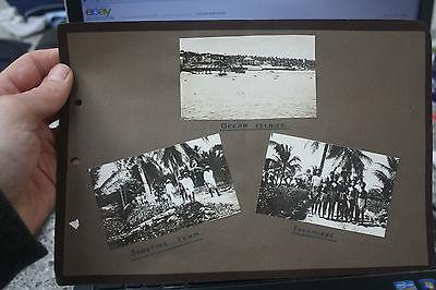 OCEAN ISLAND page of original photos  27 x 19 cm   n Kiribati. Banaba Island