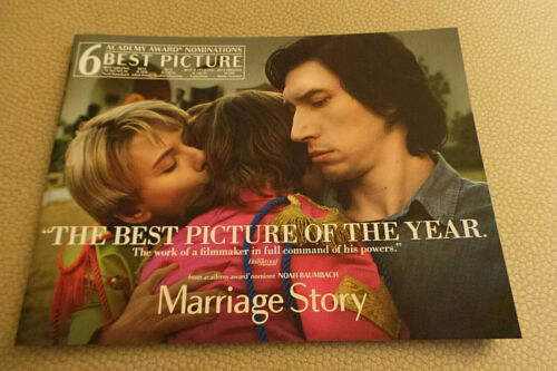 Marriage Story Promotional Press & Promo Book Netflix Adam Driver; Scarlett Jo F