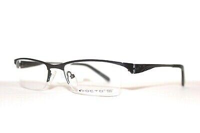 NEW OCTO 180 DEGREE HINGES FRAMES PRESS GUNMETAL BLACK RX UNISEX EYEGLASSES (Octo Glasses)