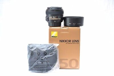 New Nikon AF-S NIKKOR 50mm f/1.8 G Lens - Retail Box - 3 Year Warranty