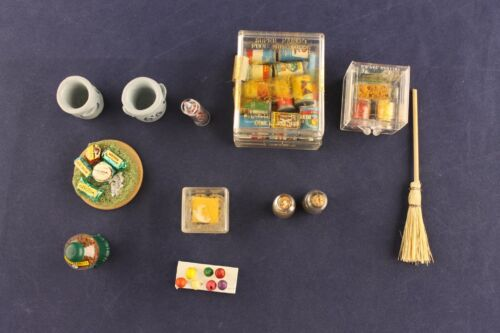 Lot of Vintage Dollhouse Miniature General Store 10 Different Items/Accessories