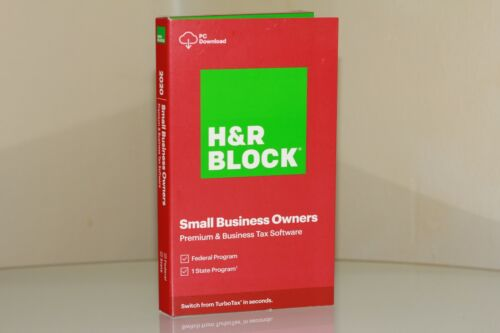 H&R Block Small Business 2020 Owners Premium & Business Tax Windows No CD