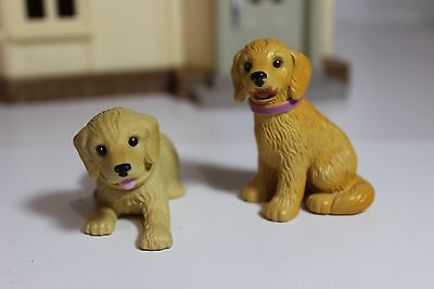 lot of 2 Mattel Plasic lab Puppy Dogs for Fisher Price or Barbie Doll House