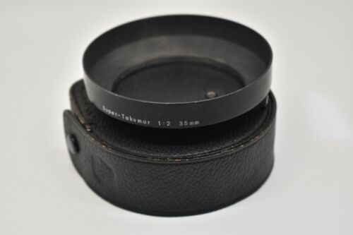 Pentax Lens Hood for 35mm f2 Super Takumar (Fat) with Case