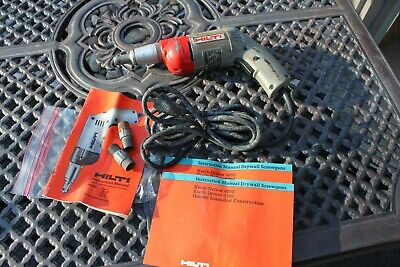 Hilti Tk-1 Drywall Screw Gun Driver 115vac 4.5 Amp Corded 14 Fastener Manual
