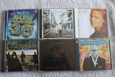 6 cd's, Clannad, Now 36, Belinda Carlisle, Harry Hill, Oasis, Queen