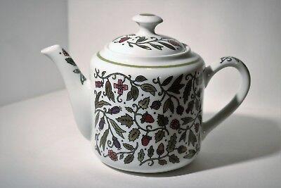 Andrea by Sadek Sudi McCullom Birds Trees Flowers Bees Porcelain Teapot EUC