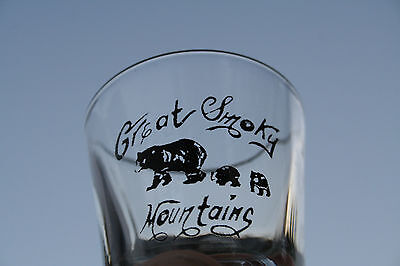 Vintage Great Smokey Mountains Shot Glass~Bears~National Park~Souvenir~Wildlife
