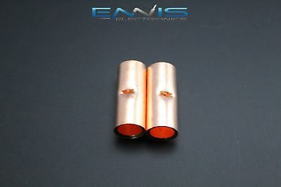 10 Gauge Copper Butt Connector 2 Pk Crimp Terminal Awg Battery Cur10