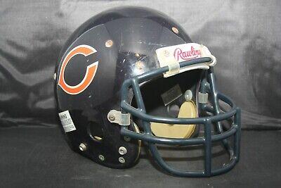 15987aca8c0 Vtg Original 1985 Rawlings RTS Game Used Worn Football Helmet CHICAGO BEARS
