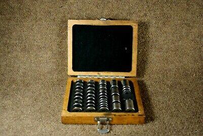 Vintage Herson Machinist 36 Piece Space Block Set With Original Wooden Box