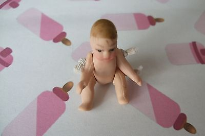 1.12 SCALE DOLLS HOUSE MINIATURE   BUDGET UNDRESSED  BABY DOLL  - NEW IN PACKET