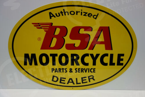 """BSA MOTORCYCLE PARTS AND SERVICE SIGN. 21"""" BY 30""""  OVULAR"""
