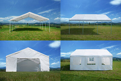 20'x20' Heavy Duty Party Tent Outdoor Commercial Carport Wedding Canopy Gazebo