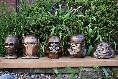 Star Wars Vader,Jabba,Trooper,Boba Fett & C3-PO Stone Ornaments -Free UK P&P