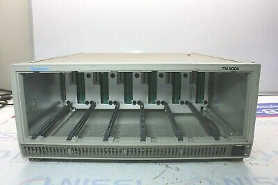 Tektronix Tm5006 6 Bay Bench Power Supply Mainframe W Option 2 Tested