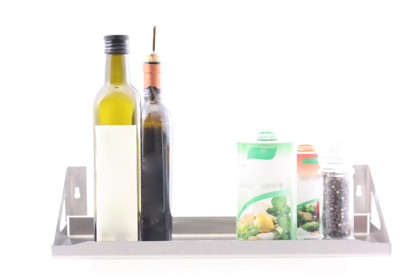 Gewürzregal Regal Wandboard Küche Edelstahl Vari für zB Gewürze 2 Stück
