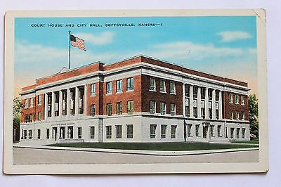 Old Postcard Court House And City Hall  Coffeyville  Kansas