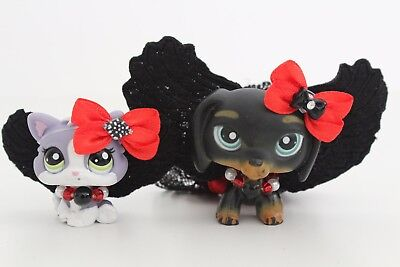 LPS ❤️ Accessories ❤️ Evil Angel Costume Wings Halloween For Littlest Pet Shop - Angel Costumes For Halloween For Kids