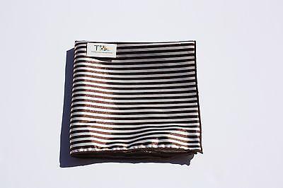 Men's Brown Striped Pocket Square