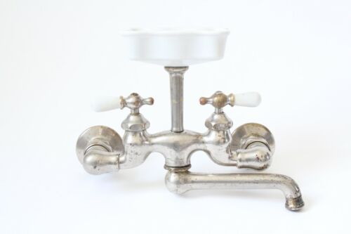 antique faucet kitchen sink | standard victorian plumbing deco vtg mixing faucet