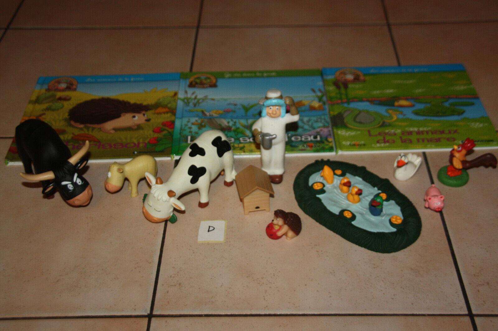 Lot d livre animaux la ferme+ figurine animaux collection altaya