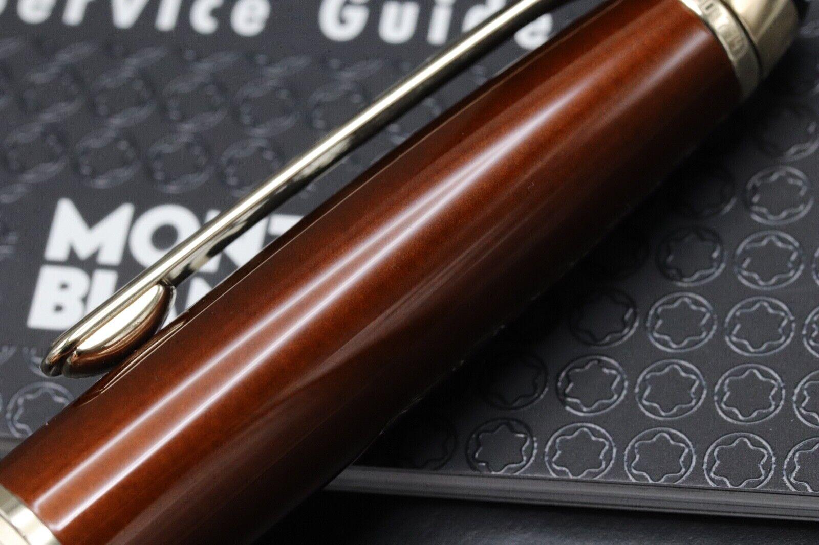 Montblanc Meisterstuck 164 Classique Solitaire Citrine Ballpoint Pen 6