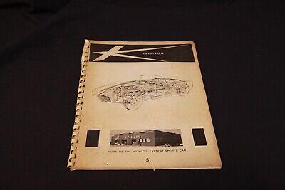 Vintage 1965 Kellison Sports Car Corvette Panther Parts Instruction Catalog