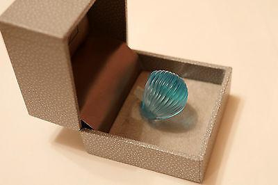 Lalique Nerita Ring, light blue , Boxed