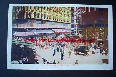 State   Madison Street  Chicagao  Illinois  Vintage Postcard  Postmarked 1908