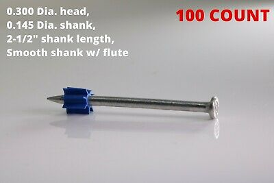 2-12 Powder Actuated Fastener Drive Pin W Flute Construction Fastening Nail