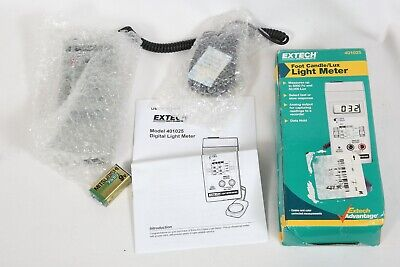 New Extech 401025 Foot Candle Lux Light Meter