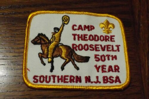 BOY SCOUT PATCH 50TH YEAR CAMP THEODORE ROOSEVELT SOUTHERN NEW JERSEY COUNCIL