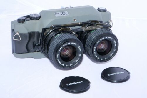 RBT Model X4 3D 35mm Stereo Film Camera with Twin 35-70mm zoom lenses.