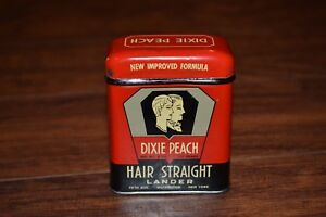 Dixie Peach Hair Straight Lander Tin w/ Contents