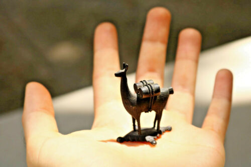 Tiny Silver 900 Sterling LLAMA figurine Statue small gift estate find old DN