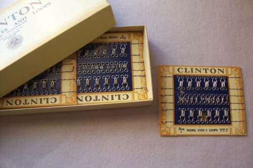 One Card  Vtg Clinton Hooks & Eyes & Loops 4 Restoration Authentic Period Sewing