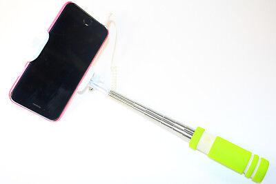 Selfie Stick Mini Verde Monopod Telescopica Braccio Supporto Cellulare Treppiede