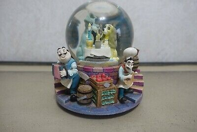Vintage Disney Lady and The Tramp Musical & Light Snow Globe