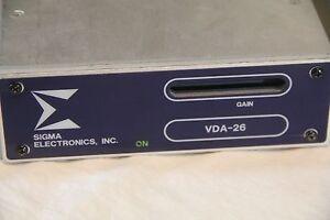 Sigma-Electronics-VDA-26-Video-Distribution-Amplifier-amp-Sigma-UDD-2602-See-Pics