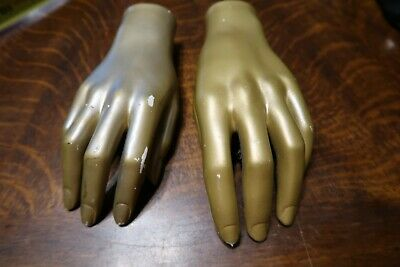 Vintage Mannequin Hands Left Right Nice Used Shape Free Us Shipping Female