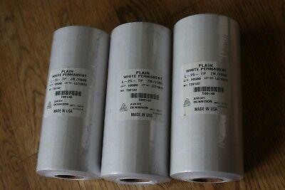 Lot 3 Sleeves New Avery Dennison Plain White Price Gun Labels 21 Rolls 7r.1500