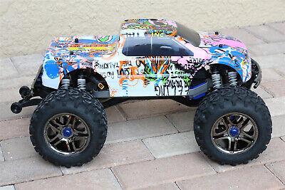Custom Body Graffiti Pink Pig Style for Traxxas T / E Maxx Shell Cover E-Maxx tweedehands  verschepen naar Netherlands