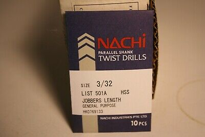 Nachi 6501 COBALT Jobbers Length Twist Drill #53 Drill 10-PACK 1060022 No 53