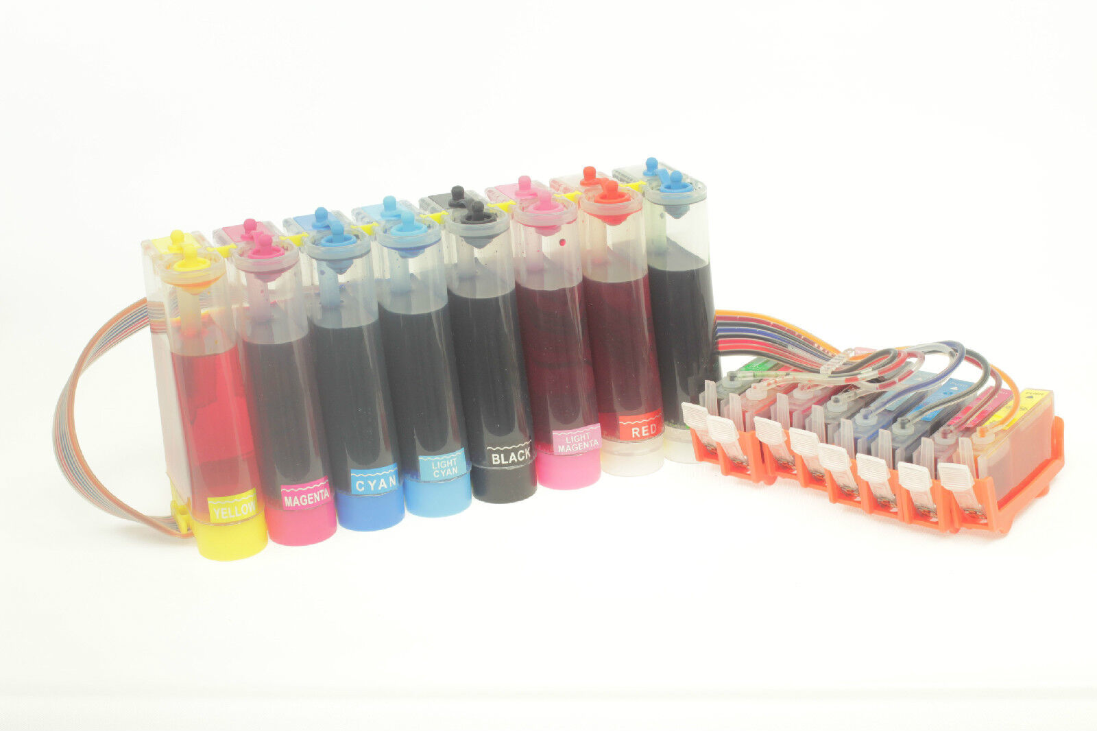 Continuous Ink Supply System for Canon PRO 9000 MARK II Printer 8 Color CLI-8