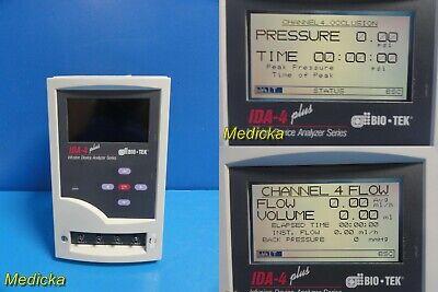Fluke Biomedical Bio-tek Ida 4 Plus Infusion Device Flow Analyzer System 21421
