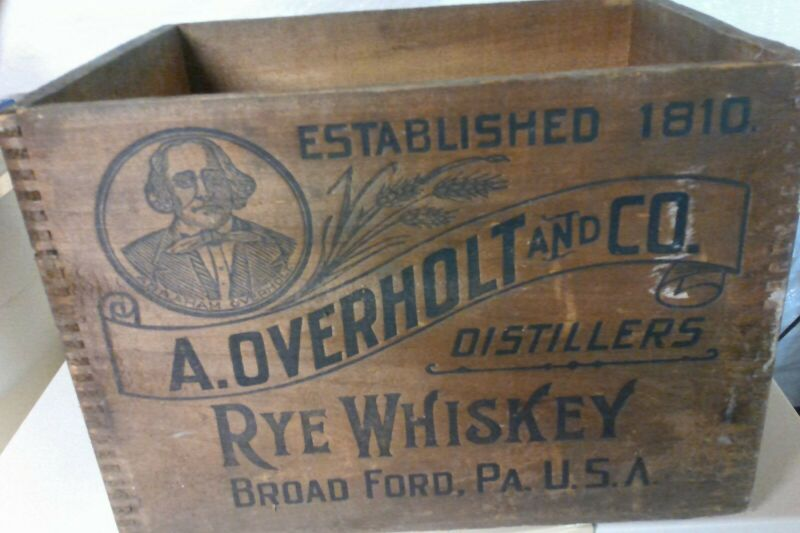 A. Overholt and Co. Rye Whiskey Wooden Box