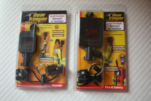 Gear Keeper Small and Large Flashlight Retractor w/Stabilizer;  New in Package,