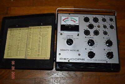 Vintage Used Sencore Tc 136 Mighty Mite Iv Tube Tester